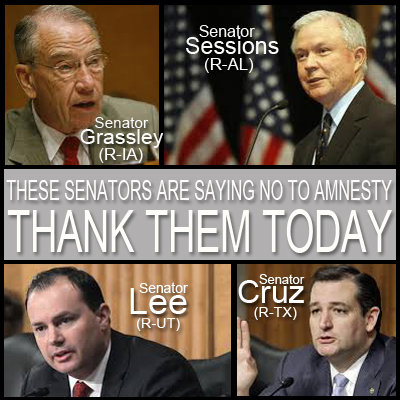 Thank you for opposing the Gang of Eight