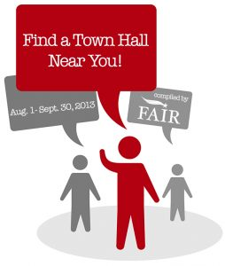 FAIR's Map of 2013 Town Halls