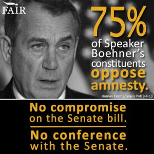 Tell Boehner: No Compromise. No Conference.