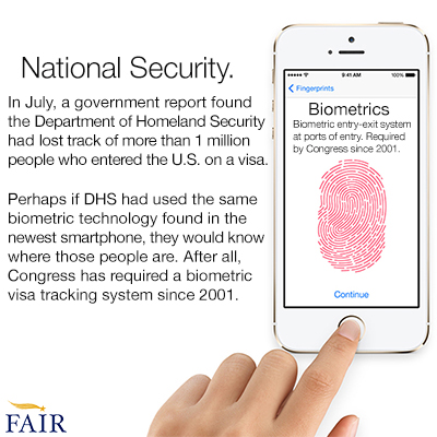 New iphone uses biometric technology Congress says is too expensive