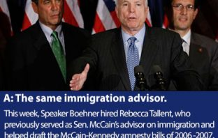 Boehner Hires McCain Immigration Advisor