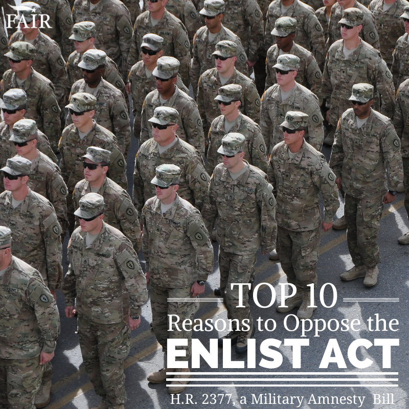 Top 10 reasons to oppose the enlist act