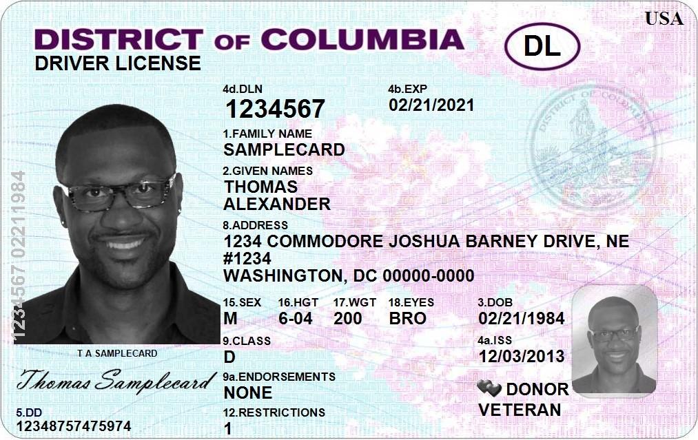 DC Driver's License