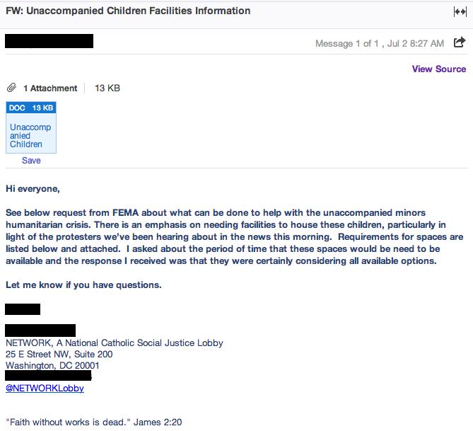 FEMA Email 1