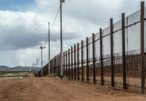 Border fence at Naco Arizona