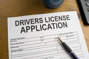 Application for a drivers license