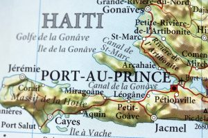 Port-au-Prince drawn out on the map
