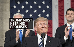 Trump Must Keep His Promises