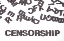 Letters and the word censorship