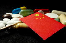 Chinese flag and medicine